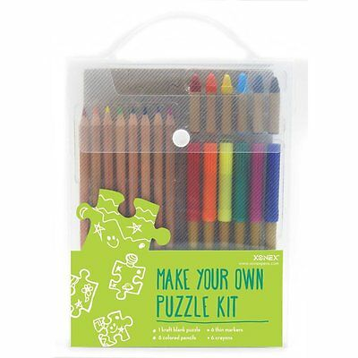 $19.88 • Buy Xonex #30143 Make Your Own PUZZLE Kit 1 Blank Puzzle/6 Marker/8 Pencil/6 Crayons