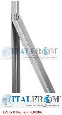Steel Diagonal Posts For  T  Posts For Wire Mesh Fencing 25x25mm • 6.39£