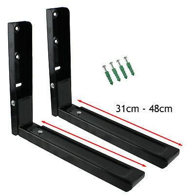 £12.61 • Buy 2 X BREVILLE Black Microwave Wall Mounting Holder Brackets With Extendable Arms
