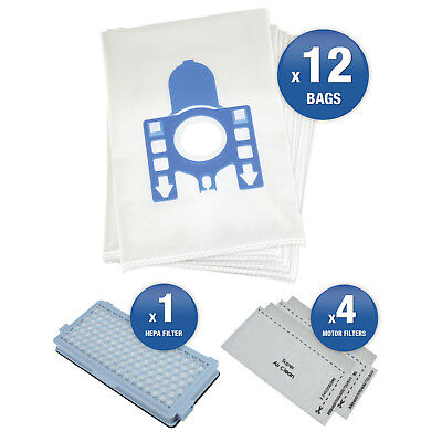 £12.99 • Buy 12 X Miele S5211 GN Vacuum Cleaner Hoover Dust Bags & Filters Maintenance Kit
