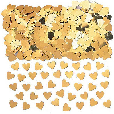 £1.49 • Buy Gold Hearts Table Confetti Wedding Engagement Anniversary Party Decorations