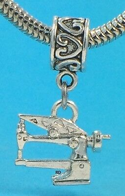$8.55 • Buy Long Arm Sewing Machine 3D Charm For Bracelet OR Necklace S.S.plated