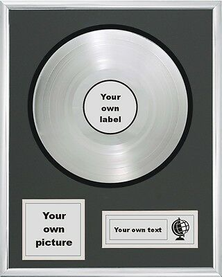 £129.99 • Buy Your Own Personalised 12  Platinum / Silver Disc Lp Record Award Presentation