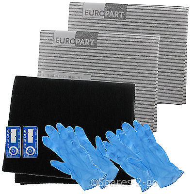 £9.31 • Buy Cooker Hood Filter Kit For WHIRLPOOL Extractor Fan Vent Grease Carbon Filters