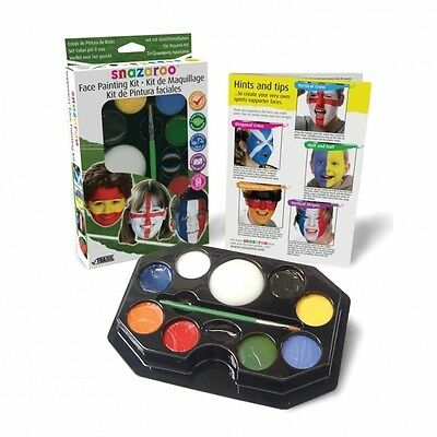 Snazaroo Supporter's FACE PAINT KIT (Flags/Country/Football/Sport)(1180130) • 22.99£