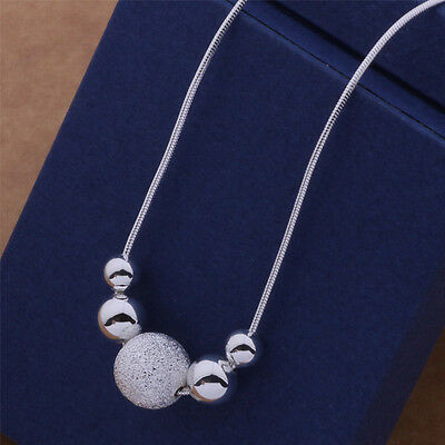 $1.10 • Buy 925 Charm Nice Silver Fashion Cute Women Beads Classic Necklace AN540