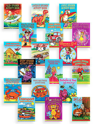 Boys Girls 36 Page Sticker Puzzle Colouring Activity Books Kids Party Loot Bags  • 1.15£