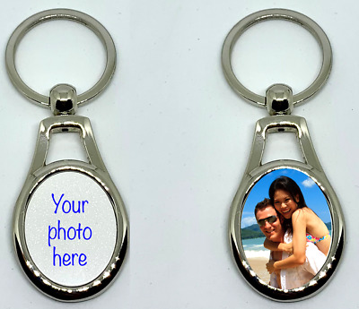 AU20 • Buy Personalised Metal Keyring Fathers Day Birthday Valentines Promotion Gift