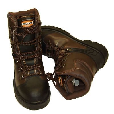 Chainsaw Forestry Boots Solidur Aborist Class1 Protection Sizes 6 - 12 • 61.49£