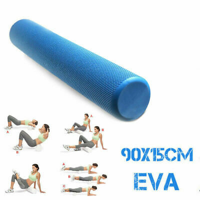 AU28.50 • Buy EVA PHYSIO FOAM AB ROLLER YOGA PILATES EXERCISE BACK HOME GYM MASSAGE 90x15cm
