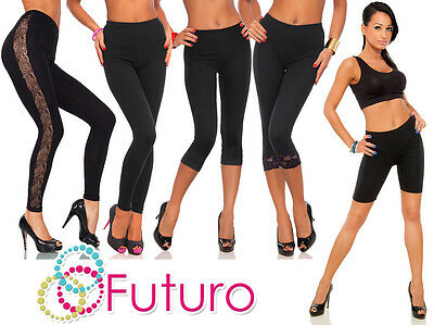 £5.95 • Buy Black Cotton Leggings Full Length, Cropped 3/4, Lace Various Lengths And Types