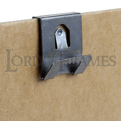 Neat Sawtooth Single Clip Over Hangers 2mm Board Picture Framing Frame Hanging • 2.45£