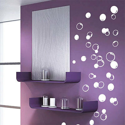 58 Bubbles Bathroom Window Shower Tile Wall Stickers Wall Decals Car Decals • 1.99£