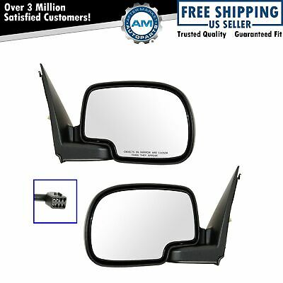 $88.58 • Buy Chrome Power Side View Mirrors Left & Right Pair Set For 99-02 Chevy GMC Truck