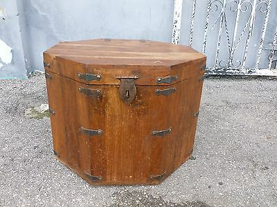 Antique Japanese Octagon Tansu Chest With Handles And Lock • 650$