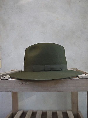 £90 • Buy Crushable Trilby Hat By Olney In Olive Green - 100% Fur Felt, UK Made, S/M/L/XL