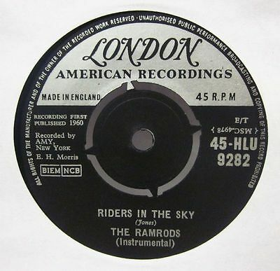 The Ramrods(7  Vinyl)Riders In The Sky-London-HLU 9282-UK-Ex/VG+ • 4.79£