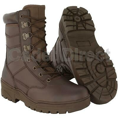 £35.95 • Buy Delta Patrol Boot Full Leather, MOD Brown Army Boots (UK Size 3 To 6)