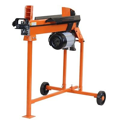 7 Ton Heavy Duty Electric Log Splitter Hydraulic Wood Cutter With Stand Duoblade • 379.49£
