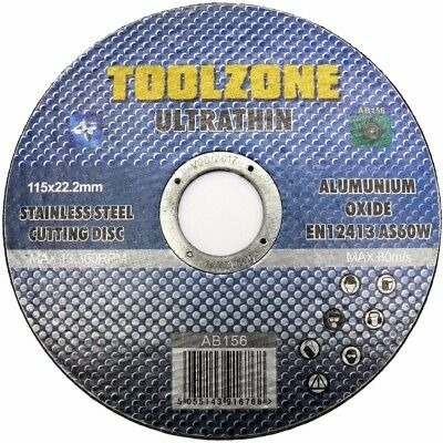 £3.29 • Buy STAINLESS STEEL CUTTING DISC - ULTRA THIN 1mm - Metal Angle Grinder 115 X 22.2mm