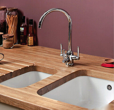 SOLID OAK WOOD WORKTOPS 1m,2m & 3m X 620 Mm X 40mm 620mm/720mm Oiled/Unoiled • 199£