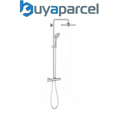 Grohe 27296 001 Euphoria Bar Shower Mixer, Overhead Rigid Rail Kit & Hand Shower • 299.99£