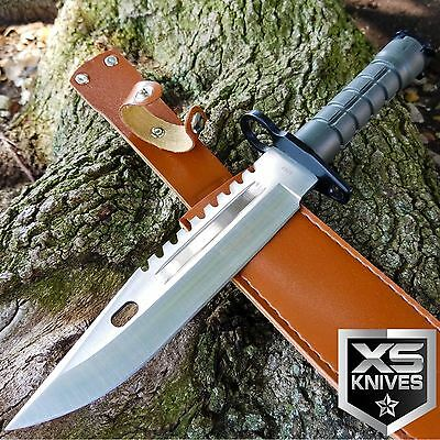 $ CDN14.70 • Buy 13  TACTICAL SURVIVAL M9 Bayonet Military COMBAT Fixed Blade Hunting Knife BOWIE