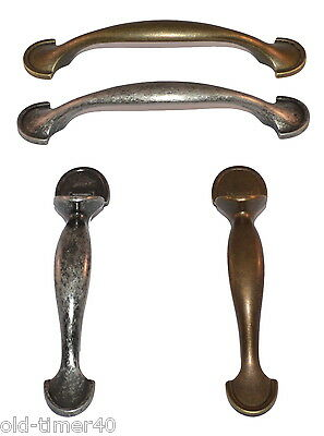 £1.75 • Buy Antique Brass & Pewter Effect Bow Latch Kitchen Cupboard Door Pull Handle