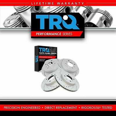 $114.95 • Buy TRQ Brake Rotor Performance Drilled Slotted Zinc Front & Rear Kit For Honda