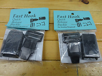 £13.07 • Buy Fast Hook Helmet Speed Clip Quick Release 2-pack Free Shipping