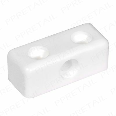 50x Modesty Block +WHITE+ Corner Kitchen Fixing Joint Connector Cabinet Cupboard • 3.81£