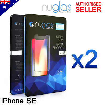 AU6.45 • Buy 2x GENUINE NUGLAS Tempered Glass Screen Protector For Apple IPhone SE 1st 2016