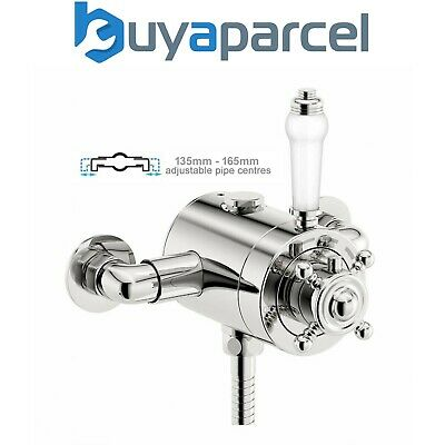 View Details Thermostatic Traditional Exposed Shower Mixer Valve - 130mm To 160mm Centres • 99.99£