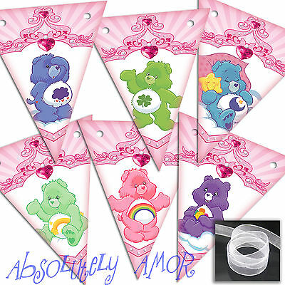 Care Bears SMALL Bunting 6/12 Flags *EXCLUSIVE DESIGN* Party Decoration Birthday • 2.79£