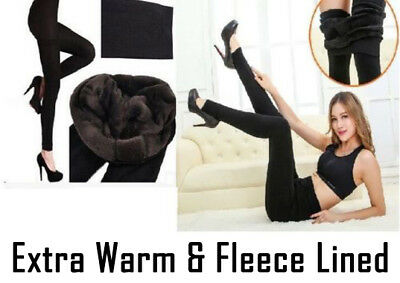 £5.99 • Buy New Womens Ladies Winter Fleece Thermal Warm Stretchy Thick Full Length Leggings