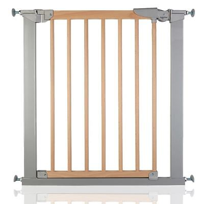 BabyDan Avantgarde Wooden Baby Gate True Pressure Fit Stair Gate Silver Beech • 46.90£