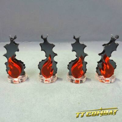 TTCombat Wargames - Wound Markers - Fire Markers (4) • 1.95£