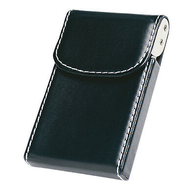 PU Luxury Leather Look Credit ID Business Card Holder Pocket Wallet Box  • 1.99£