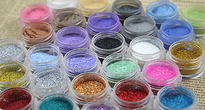 24 Loose GLITTER Eyeshadow Eye Shadow Face Body Painting Paint Craft Nail Art  • 3.99£