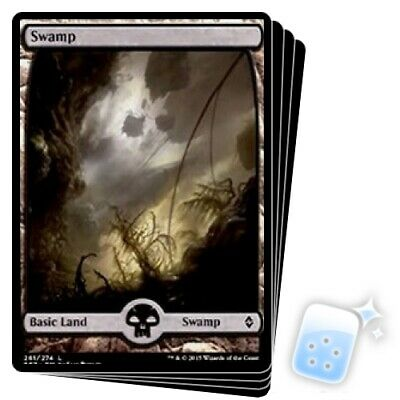 4 PLAYED Swamp #240 Losse kaarten Land Zendikar Mtg Magic Basic Land 4x x4