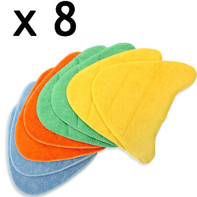 8 Cleaning Covers Pads For VAX Total Home Master 2 In 1 Steam Cleaner Floor Mop • 12.79£