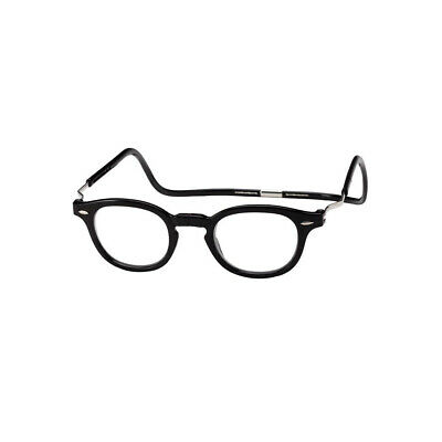 dd8423411799 DW Clic Vintage XXL BLACK Oval Magnetic Reading Glasses Front Connect  Readers • 39.95