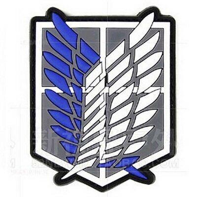 AU7.52 • Buy Attack On Titan-The Survey Corps Badge Wings Of Freedom 3D PVC Patch