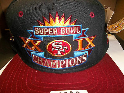 818fb687a22 San Francisco 49ers NFL Super Bowl Champions New ERA Hat Snapback Cap Vtg  Retro • 49.95