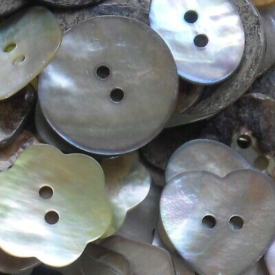 £3 • Buy Mother Of Pearl Buttons - Best Quality X 5 Buttons- Choose Your Shape