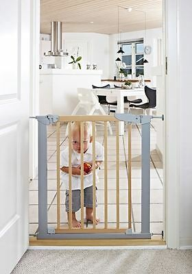 BabyDan True Pressure Fit Avantgarde Indicator Baby Stair Gate Silver Beech • 46.90£