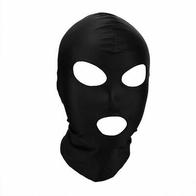 £3.84 • Buy UK Black Spandex Stretchy Gimp Mask 3 Hole Face Hood Fun Stag & Hen Nights Party