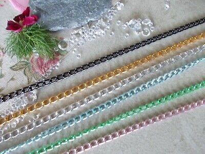CHUNKY JEWELLERY CHAIN -Aluminium Chain-chose Pink,green,gold,silver,blue,black, • 2.75£