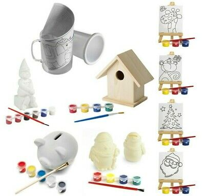£9.99 • Buy Kids Decorate Your Own Gift Paint Your Own - Party Bag & Xmas Stocking Filler UK