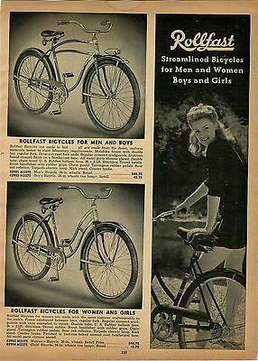 $9.99 • Buy 1947 PAPER AD Rollfast Bicycle Michiana Flyer Irish Mail Scooter Pedal Car